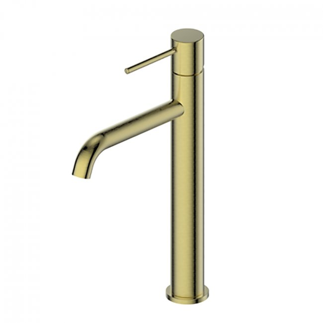 Gisele Tower Basin Mixer - Brushed Brass