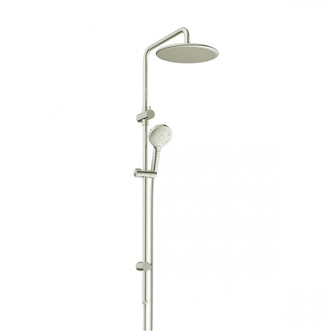 Glint Airflo Twin Rail Shower - Brushed Nickel