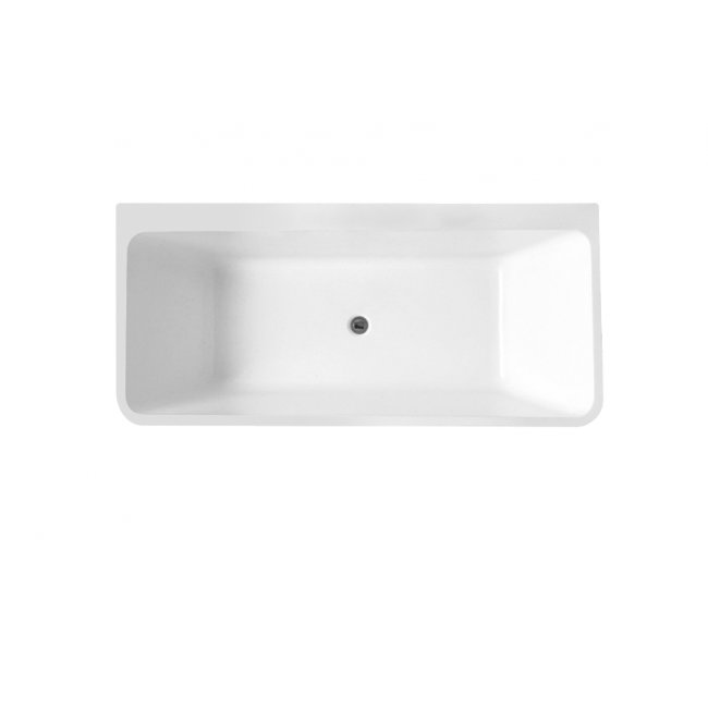 Indus Back-to-Wall Bath in Gloss White
