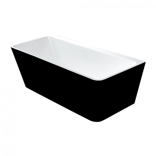 Indus Back-to-Wall Baths in Black & White