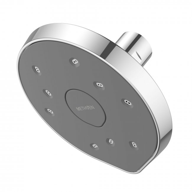 Kiri MKII Satinjet Low Flow Wall Shower Rose