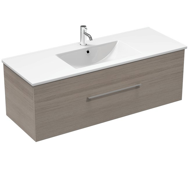 Mia 1200 1 Drawer Wall Vanity