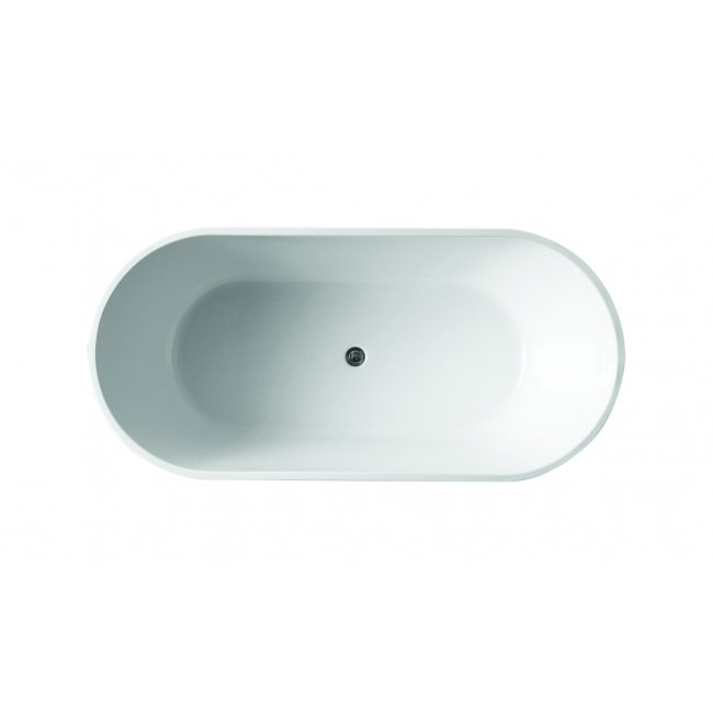 Rio Freestanding Oval Bath in Gloss White