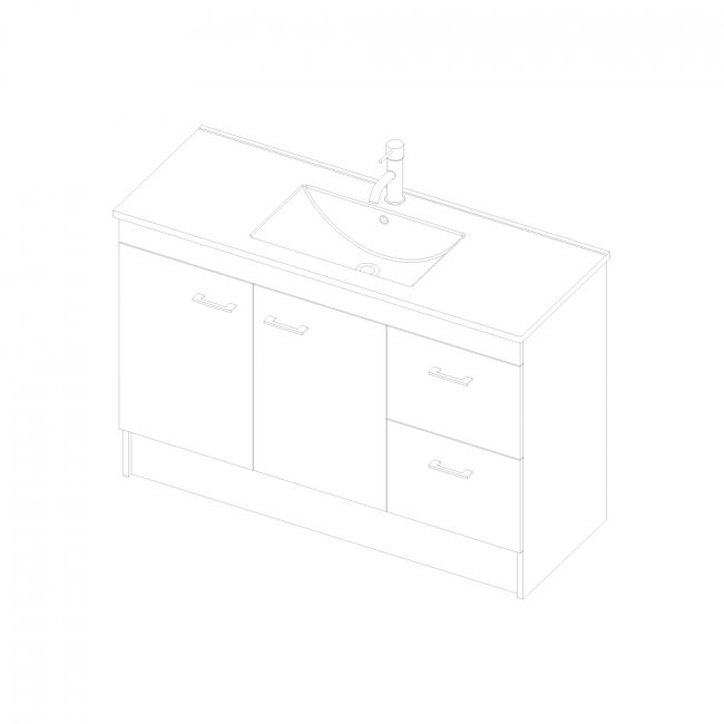 Riva Floor 1200 2 Doors, 2 Drawers