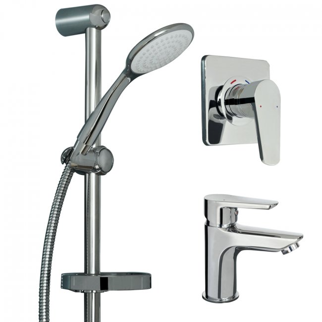 Saluto Basin Mixer/Shower Mixer/Hand Shower Set