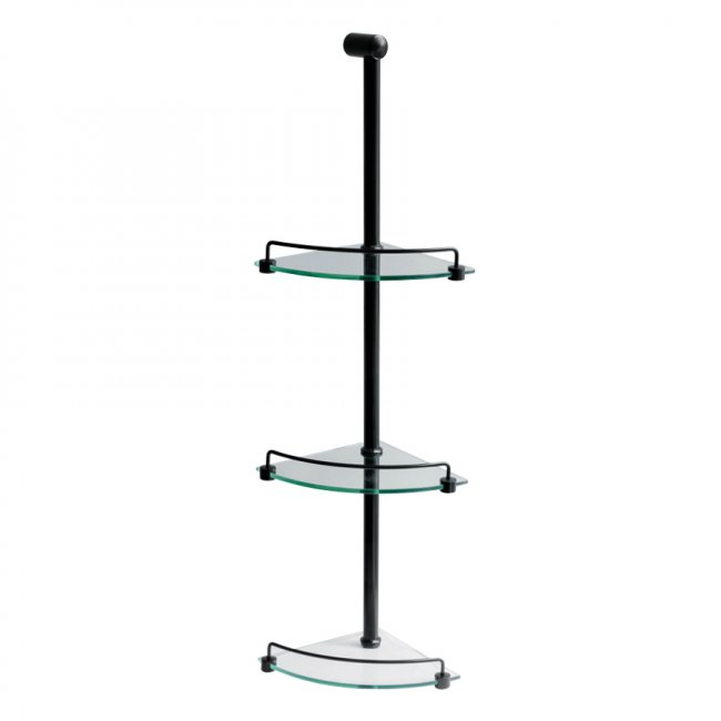 Shower Caddy 3 Tier Matt Black