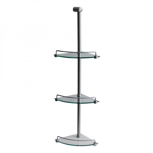 Shower Caddy 3 Tier Brushed Nickel