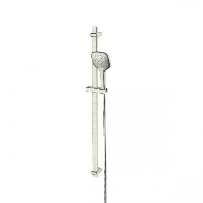 Swept Airflo Adjustable Rail Shower - Brushed Nickel