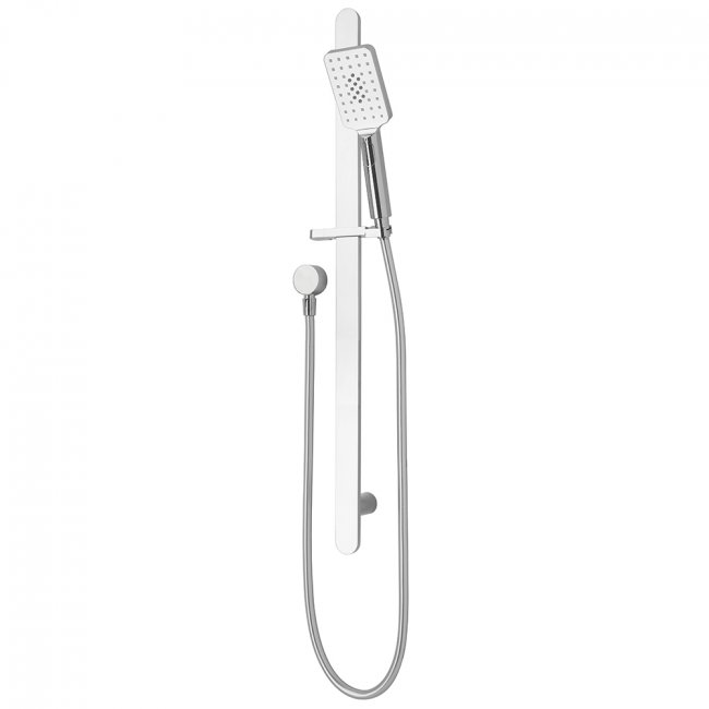 Eclipse Square Slide Shower Chrome