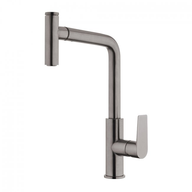 Olympia High Rise Pullout Sink Mixer - Brushed Gunmetal