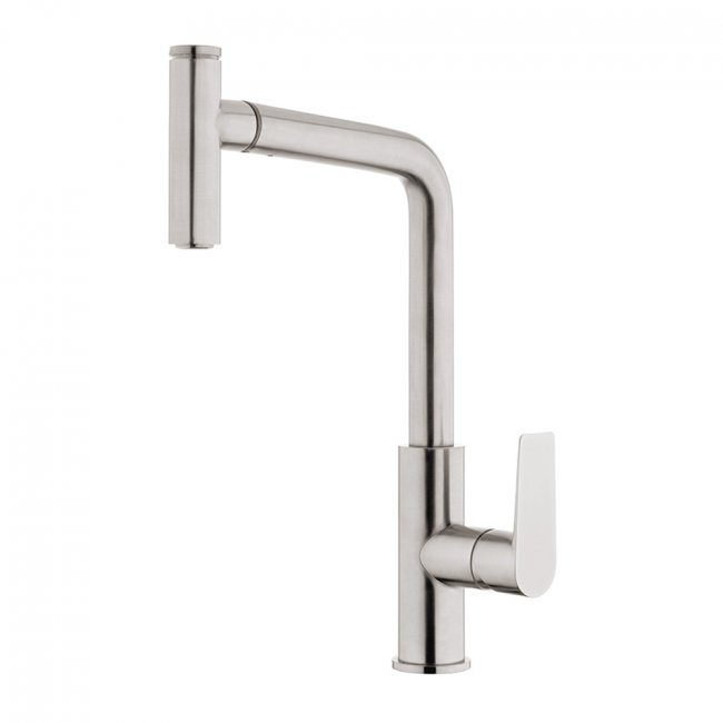 Olympia High Rise Pullout Sink Mixer - Brushed Nickel