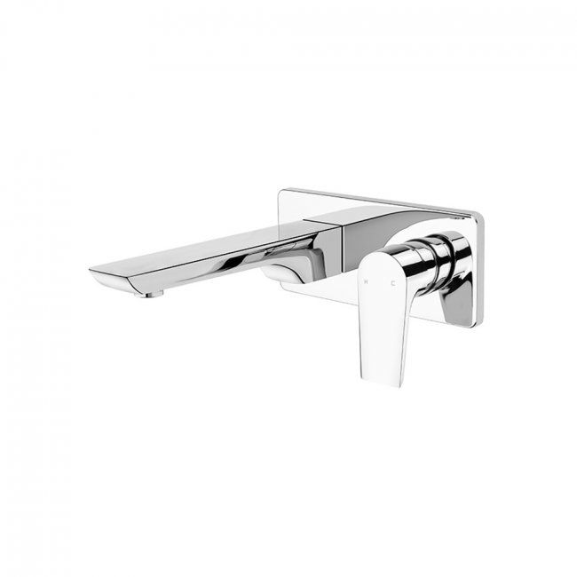 Olympia Wall Mounted Basin Mixer - Chrome