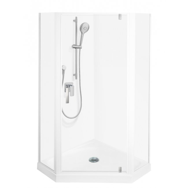 Valencia Elite Angle Corner Pivot Shower, Acrylic - 900 x 900mm