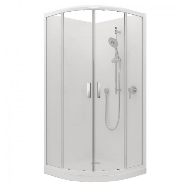 Valencia Elite Round Sliding Acrylic Shower 900X900