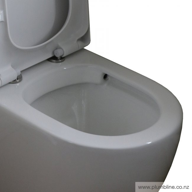 Progetto Zen Rimless Back to Wall Toilet Suite Slim Seat