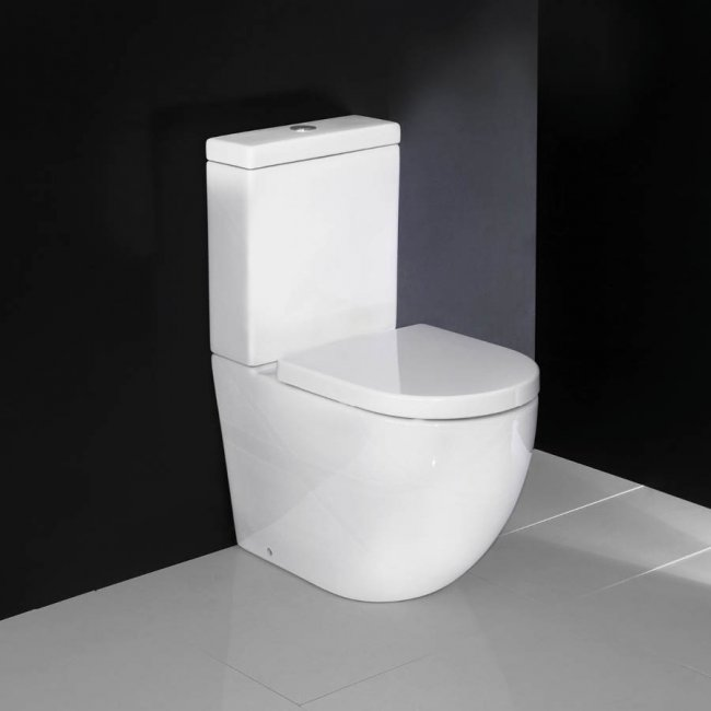 Progetto Zen Rimless Back to Wall Toilet Suite Standard Seat
