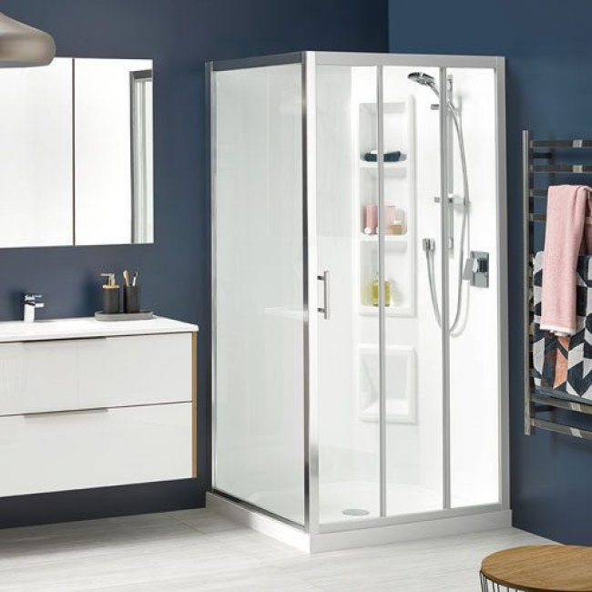 Cezanne Square Showers Moulded Wall