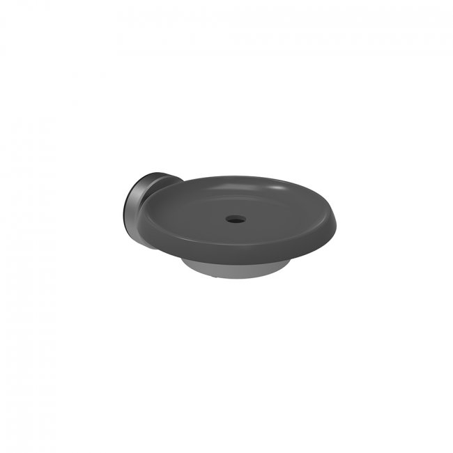 Methven Turoa Soap Dish - Graphite with Stainless Steel