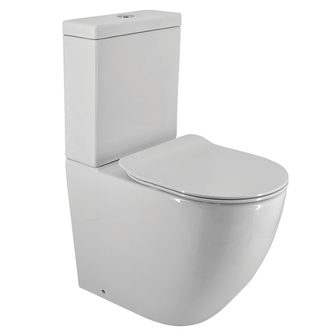 Progetto Zen Rimless Overheight Back to Wall Toilet Suite Slim Seat