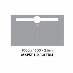 Marmox Ready to Tile Over Shower Base 1mx1.5m - Trough drain longitudinal