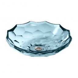Kohler Briolette Faceted Glass Vessel Basin - Translucent Dusk