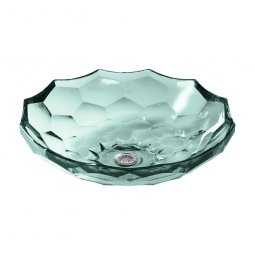 Kohler Briolette Faceted Glass Vessel Basin - Translucent Dew
