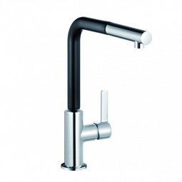 L-ine S Pullout Sink Mixer Black/Chrome