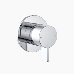 Round Blade Wall Mixer - Chrome
