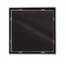 Point Drain Black Glass
