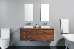 Zero 1500 Wall-Hung Vanity, Double Bowl, 2 Drawers (Side-by-Side) + 2 Concealed Drawers