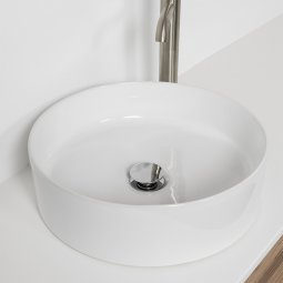 Sleek Ceramic Round Counter Top Basin