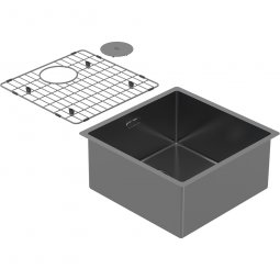 Zomodo PearlArc Medium Bowl (Sink & Grid) - Black Pearl