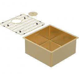 Zomodo PearlArc Medium Bowl (Sink & Grid) - Eureka Gold