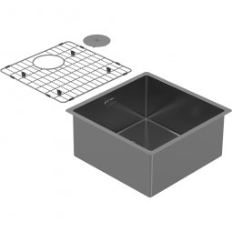 Zomodo PearlArc Medium Bowl (Sink & Grid) - Sonic Grey