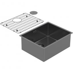 Zomodo PearlArc Large Bowl (Sink & Grid) - Black Pearl