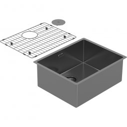 Zomodo PearlArc Large Bowl (Sink & Grid) - Sonic Grey