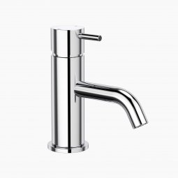 Round Pin Basin Mixer - Chrome