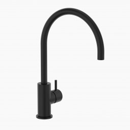 Round Pin Sink Mixer - Black