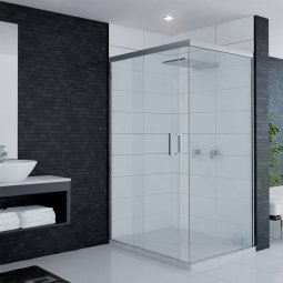 Ava Sliding Door Shower - Centre Waste