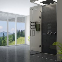 Ava Hinged Door Shower - Channel Waste
