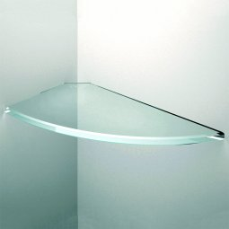 Elliptical Floating Glass Shelves