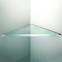 Triangular Floating Glass Shelves
