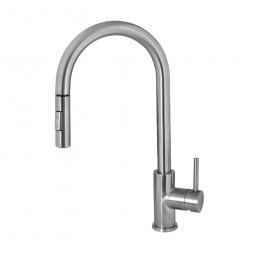 Deluna Sink Mixer with Pullout Spray Brushed Stainless