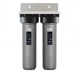 Whole House Dual Water Filtration System - 20 inch, 5 micron, 110 lpm