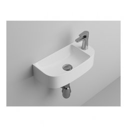 Newtech Emilia 440 Wall Mounted WC Basin - Gloss White