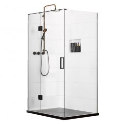 Easy Tile Splash (LH) 2 Wall Shower 1200 x 900