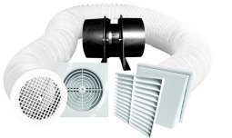 Manrose Pro-Series Low Profile Shower Fan Kits