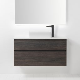 Soft Solid Surface 1000 Wall-Hung Vanity, 2 Drawers
