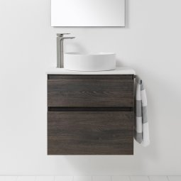 VCBC Soft Solid Surface 650 Wall-Hung Vanity, 2 Drawers