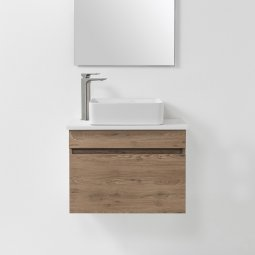 VCBC Soft Solid Surface 650 Wall-Hung Vanity, 1 Drawer